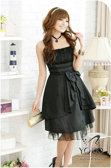 black japanese dress fashion  style formal cocktail