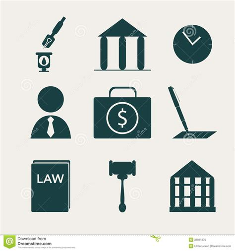imagenes de simbolos juridicos legal law and justice icon set stock vector image 38861876