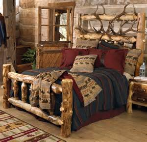 elk antler aspen log bed king cabins