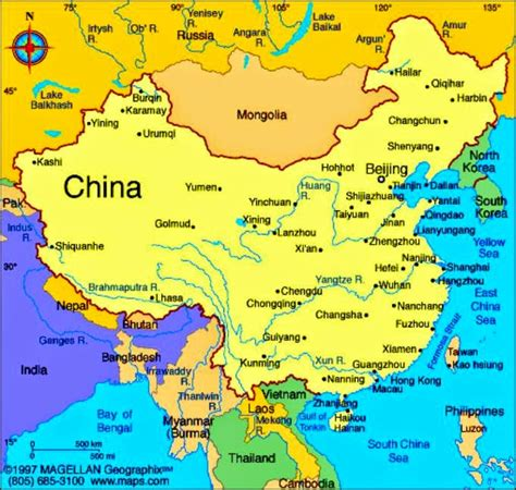 map of china and surrounding countries china map printable free printable maps