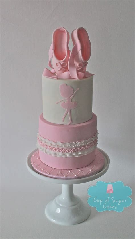ballet slipper cake silhouette ballet birthday cake from cup of sugar cakes
