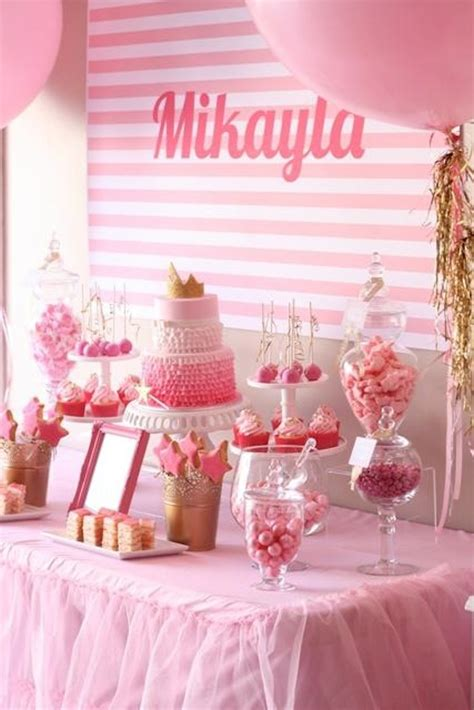 pink theme decorations pinkalicious princess pink and gold birthday via