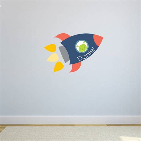 rocket wall sticker rocket name fabric wall stickers by littleprints