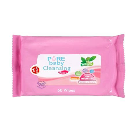 Baby Cleansing Wipes Lemon Isi 60 purebaby and mam gifts blibli