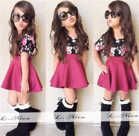 Set Modas Kid moda clothing set saia curta a camisa de t