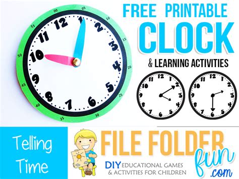 Free Printable Clock Games | free printable clock games