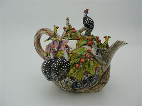 Intu Art   Tea & Coffee Pots: Small Guinea Fowl Teapot