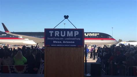 s plane donald s plane entrance at mesa arizona rally