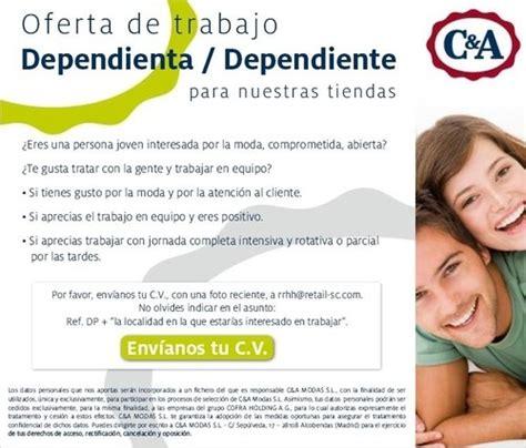ofertas de empleo para promotoras azafatas oferta de empleo dependientes as para tiendas c a