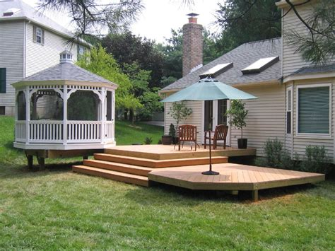 Backyard Deck by Patio And Deck Ideas For Backyard Marceladick