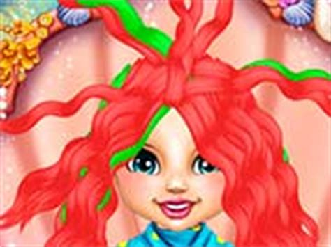 real haircuts games ariel baby ariel real haircuts play free online games for