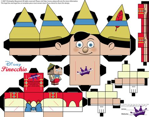 Disney 3d Papercraft - pinocchio cubeecraft skgaleana by skgaleana on deviantart