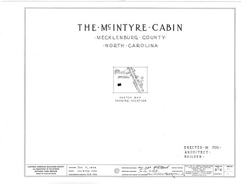 Mecklenburg County Nc Records File Mcintyre Log House Nc Route 271 Mecklenburg County Nc Habs Nc 60