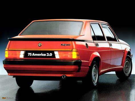 alfa romeo 75 6v 3 0 america 162b 1987 1988 wallpapers