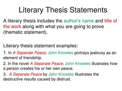 uncommon themes in literature ppt theme statements vs topics powerpoint presentation