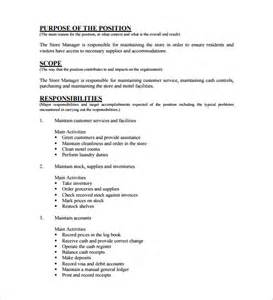 description template pdf store manager description store manager resumes best