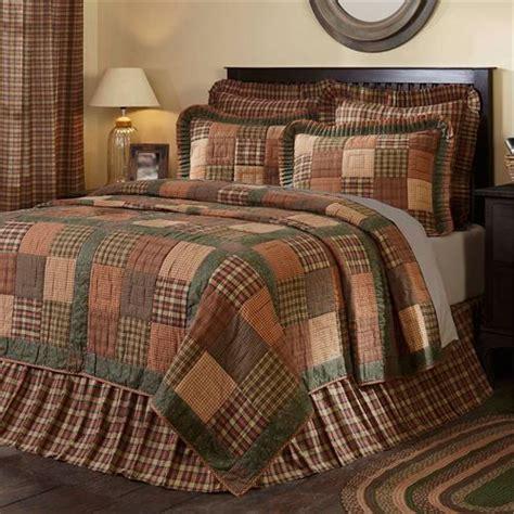 crosswoods plaid patchwork quilt bedding  mayflower