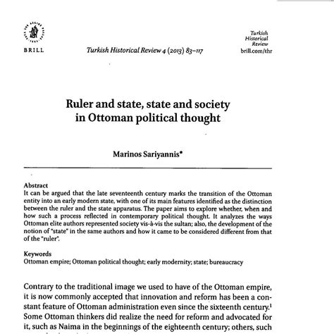 Ottoman Ruler by Ruler And State State And Society In Ottoman Political
