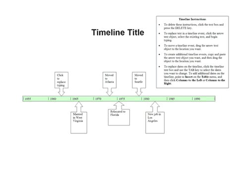 how to make a timeline template microsoft word timelines office