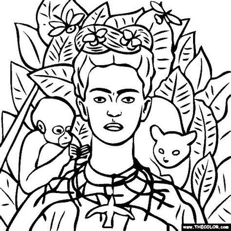 frida kahlo colouring books 379133994x frida self portrait coloring famous art portraits frida kahlo and artist