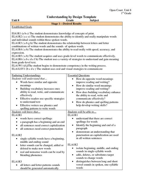 1000 Ideas About Lesson Plan Template Doc On Pinterest Autobiography Template Toddler Lesson Understanding By Design Template