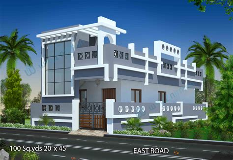 100 sq yds 20x45 sq ft west face house 1bhk floor plan jpg north facing house plans with elevation