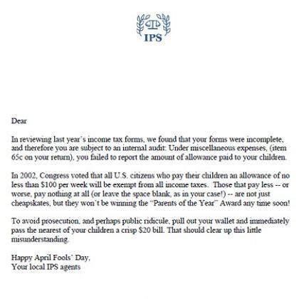 April Fools Letter Template