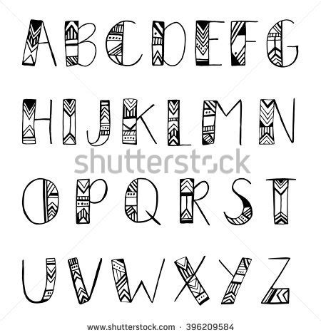 tribal alphabet stock images royalty free images