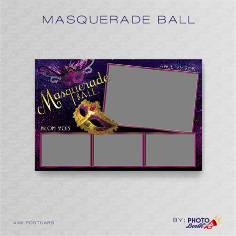 Masquerade Ball Photoshop Psd Files Photo Booth Talk 4x6 Photo Booth Templates