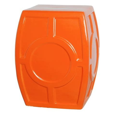 Stool Is Orange by Bright Orange Ceramic Oculus Stool