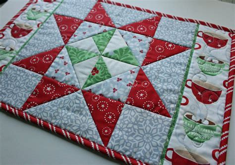 pattern christmas placemats christmas in august pinwheel star table runner placemats