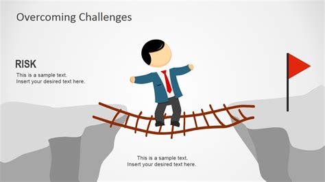 show challenges overcoming challenges powerpoint template slidemodel