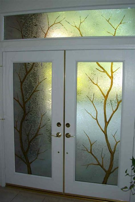 Etched Door Glass Etched Door Glass Sans Soucie Glass