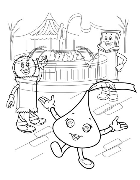 hershey coloring pages printable hershey kisses free coloring pages