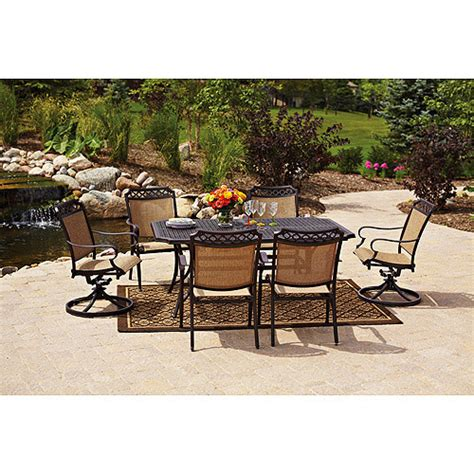 Walmart Patio Furniture Sets Better Homes And Gardens Paxton Place 7 Patio Dining Set Seats 6 Walmart