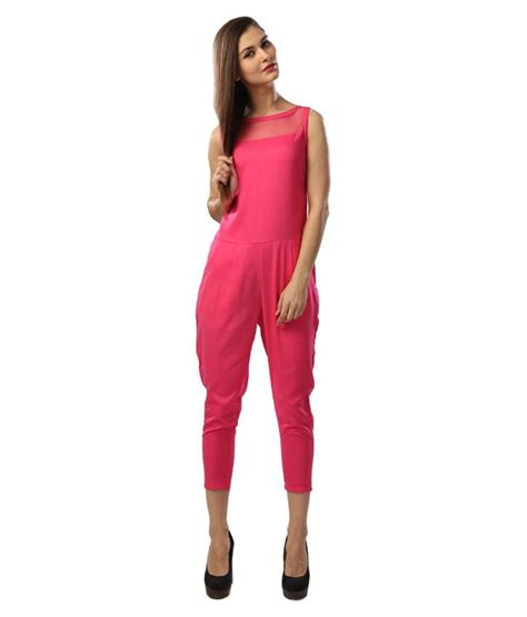 Jumpsuit Katun Rayon Glam Luxe Rayon Pink Jumpsuit Buy Glam Luxe Rayon