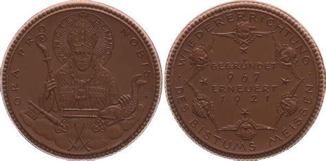 steingut porzellan porzellan spendenmedaille 1921 deutschland meissen