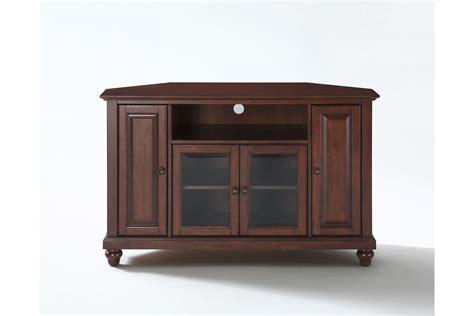 cambridge 48 quot corner tv stand in vintage mahogany finish
