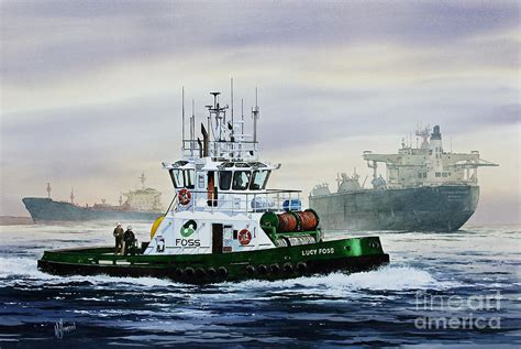 tugboat painting lucy foss painting by james williamson