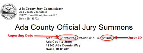Ada County Idaho Court Records Ada County Juror Login