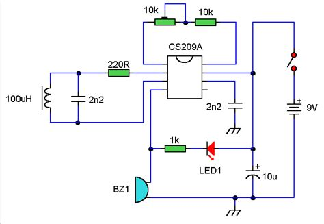metal detector circuit diagram metal detector electronic circuit diagram
