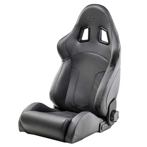 reclinable seat sparco reclinable seat r600 leather black garagerz