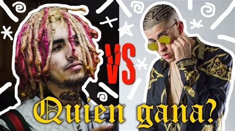 lil pump quien es bad bunny vs lil pump la gran pelea 191 quien gana youtube