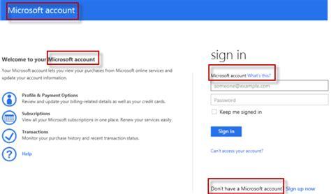 login account microsoft account billing information