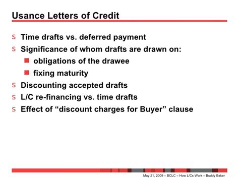 Letter Of Credit Usance Period how letters of credit work