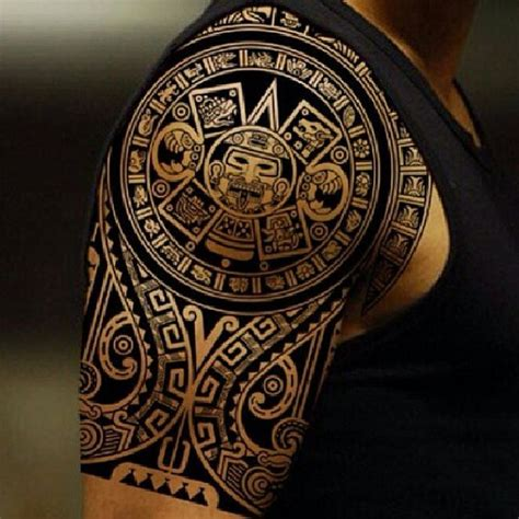 tribal aztec tattoos aztec tribal shoulder tattoos search tattoos