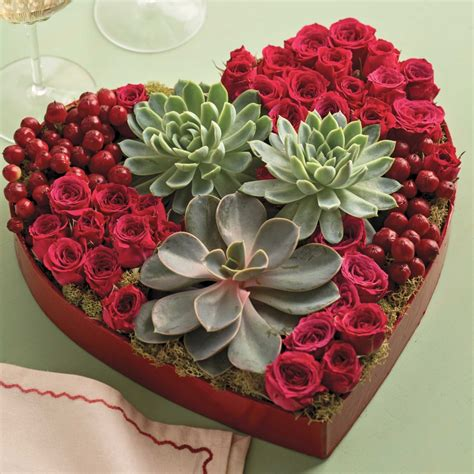 valentines flowers instead of a shaped box of chocolate this