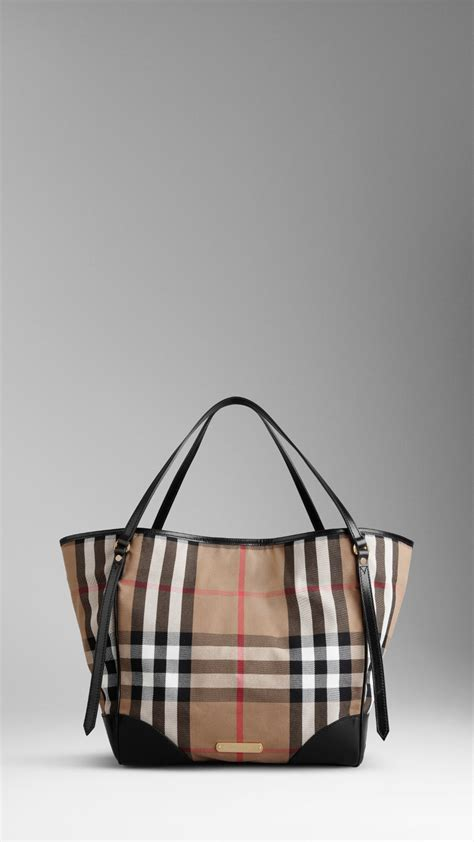 House Bags by Burberry Medium House Check Tote Bag All Handbag Fashion