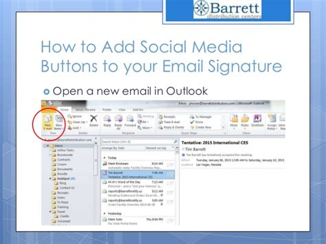 add or change your email signature on your blackberry how to add social media icons to your outlook 2010 email