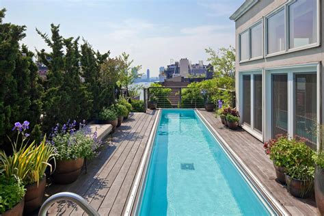 luxury penthouse with terrace and swimming pool for sale in tribeca two story penthouse with stunning roof terraces and